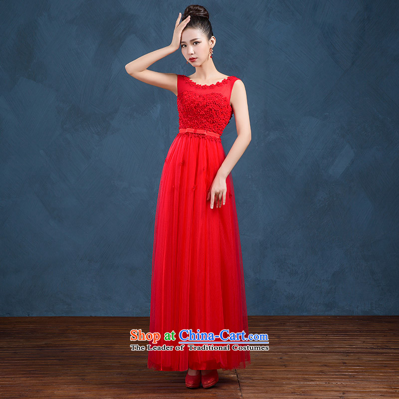 High-end custom 2015 new wedding dresses bridesmaid dress long skirt bride bows services evening dresses long summer red made no refund is not shifting