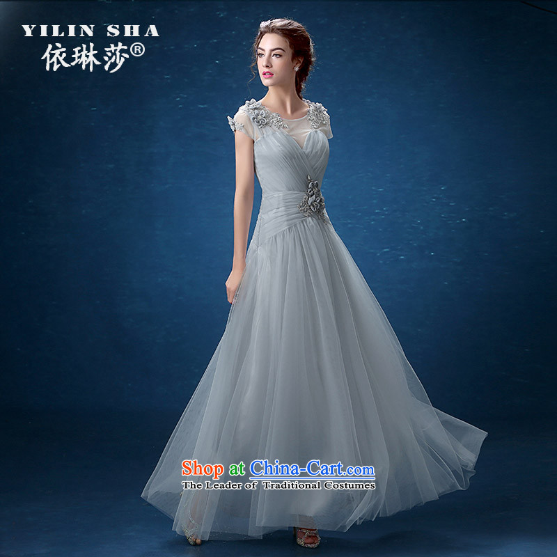 According to Lin Sha shoulders banquet evening dresses 2015 annual meeting of persons chairing the new dresses long skirt Sau San long thin Ms. Video�S