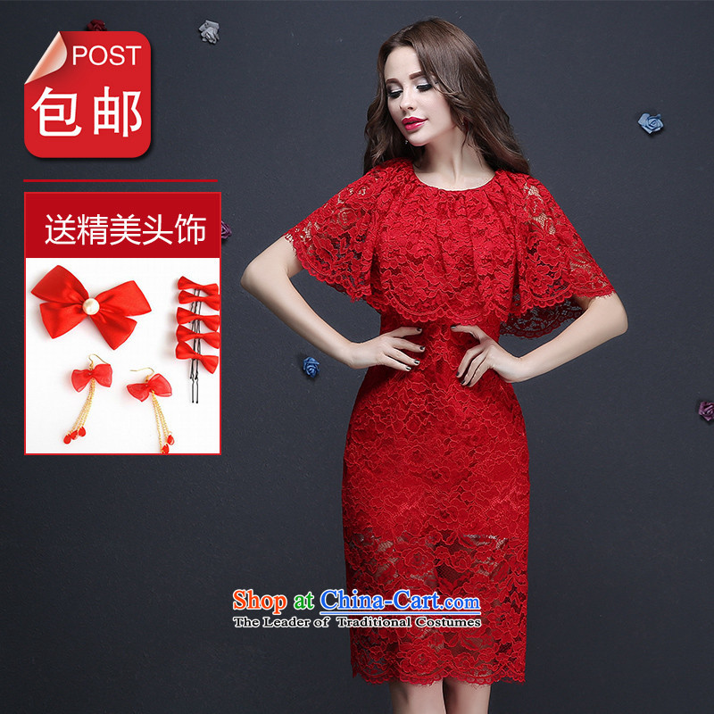 Name of the bows services bridesmaid hannizi services 2015 new Korean-style spring and summer bride wedding dress evening dresses red?S