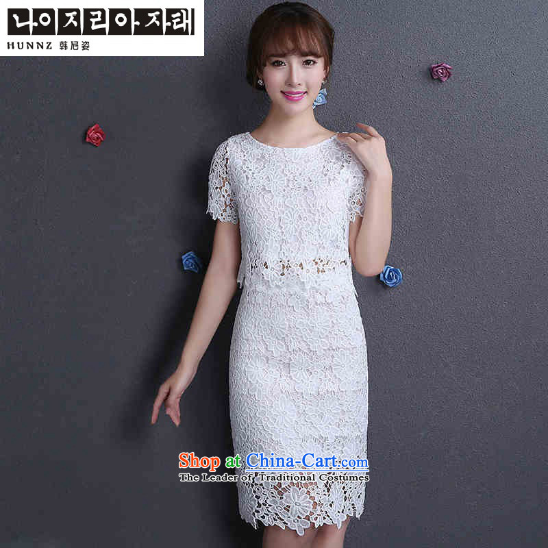 Name of the new 2015 hannizi spring and summer Korean-style wedding dress toasting champagne sweet Bridal Services Bridesmaid Services White?XL