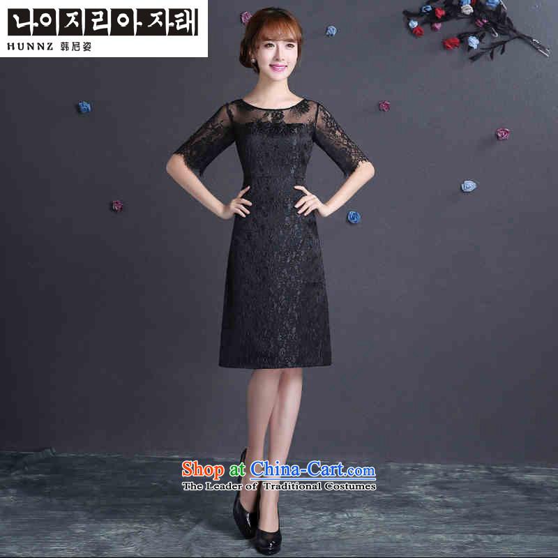 Name of large 2015 hannizi stylish Sau San new spring and summer bride wedding dress elegant bridesmaid bows services black?S service