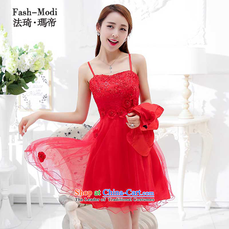 The law was in Dili 2015 Qi new marriages back door bows evening dresses female red long spring and summer wedding dresses, wedding package red 1752D L