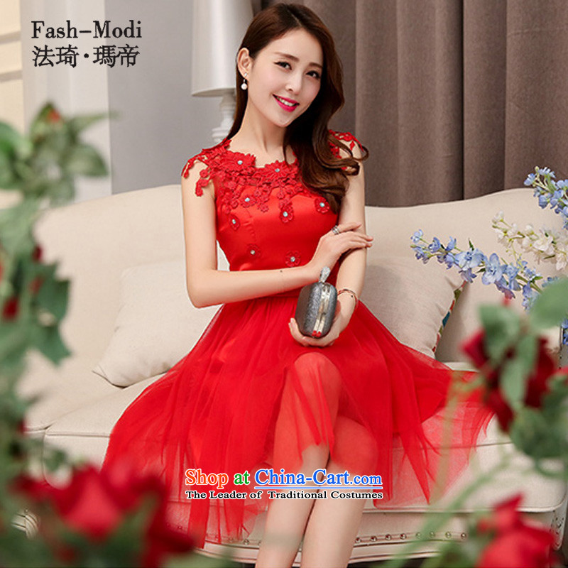 Law Chi Maria di 2015 autumn and winter, bows to bridesmaid dress service bridal dresses short of evening dress back door color red. serving drink M85 - 95 catty catty