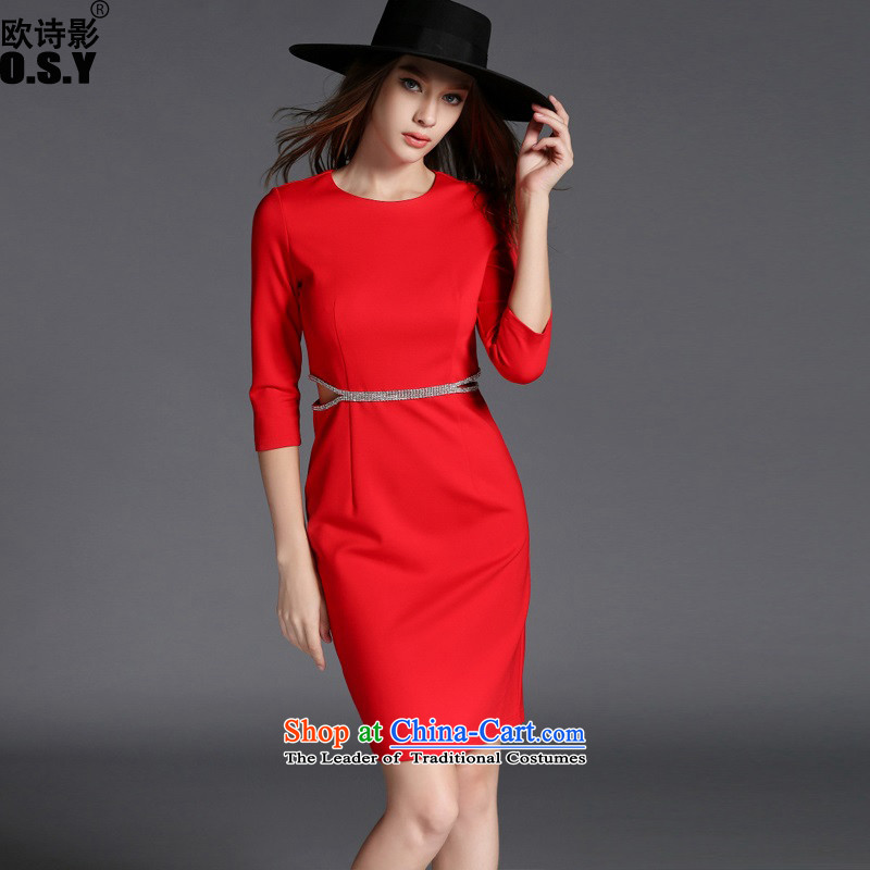 The OSCE Poetry Film 2015 Autumn new stylish look for women courage empty diamond video in thin long skirt bows services under the auspices of dress back door onto marriage bride bridesmaid skirt red?XL