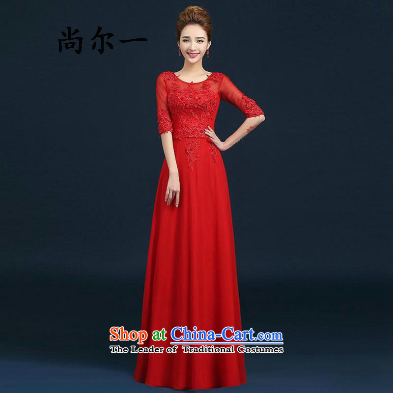 Naoji a long, Mr Ronald marriages bows service banquet dinner dress the Word 8269 Red Dress shoulder?XXL