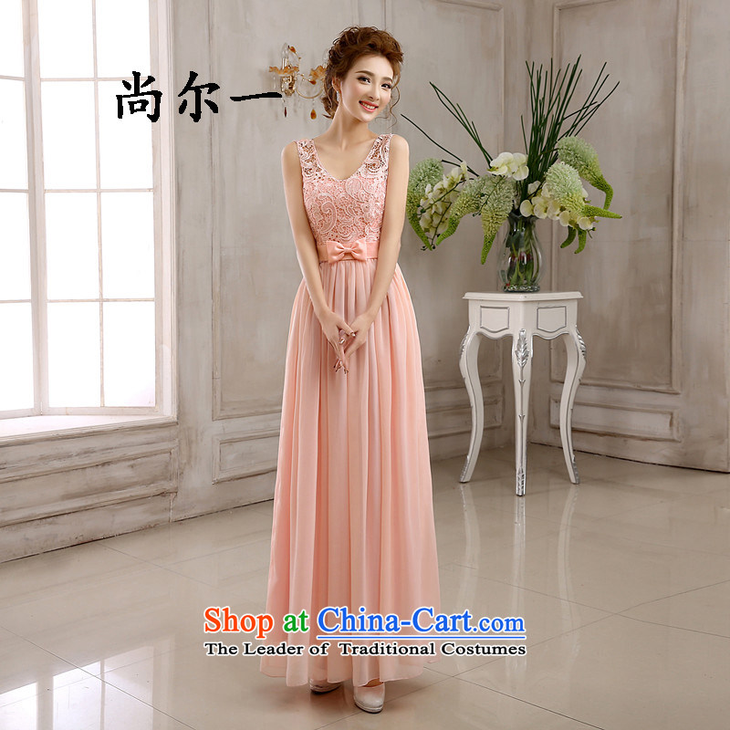 Naoji bridesmaid mission a long gown bridesmaid services will marry sister skirt bridesmaid skirt 82610 pink?XXL