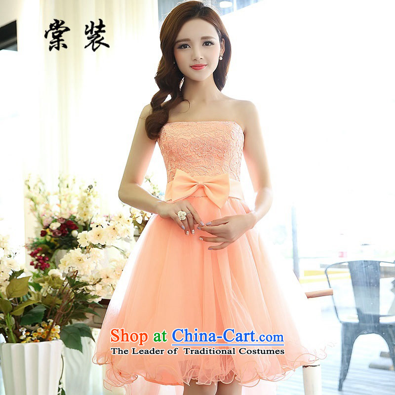 Replace 2015 summer-tong new dresses? HSZM1520D?pink?M