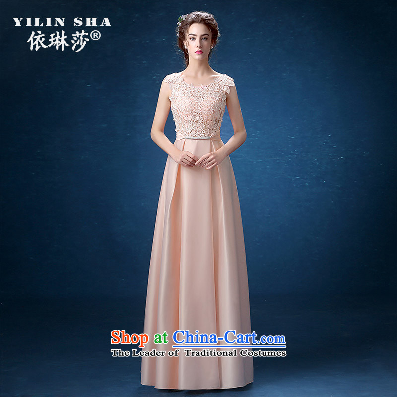 According to Lin Sha shoulders banquet evening dresses long 2015 new female annual summer show evening dress long skirt girl autumn?L