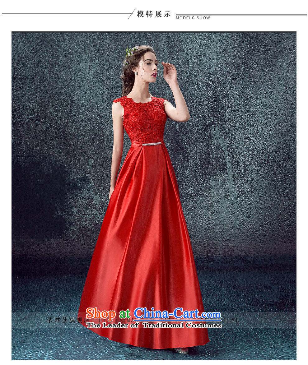 According to Lin Sa 2015 Autumn new marriages bows services evening dresses long shoulders wedding dresses skirts Sau San Red Red XL Photo, prices, brand platters! The elections are supplied in the national character of distribution, so action, buy now enjoy more preferential! As soon as possible.