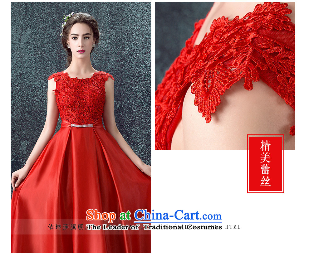 According to Lin Sa 2015 Autumn new marriages bows services evening dresses long shoulders wedding dresses skirts Sau San Red RedXL Photo, prices, brand platters! The elections are supplied in the national character of distribution, so action, buy now enjoy more preferential! As soon as possible.