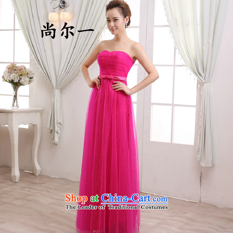 Naoji a long, wipe the chest straps and sexy annual banquet dinner dress Sau San video thin bride services 8272 red in the bows?S