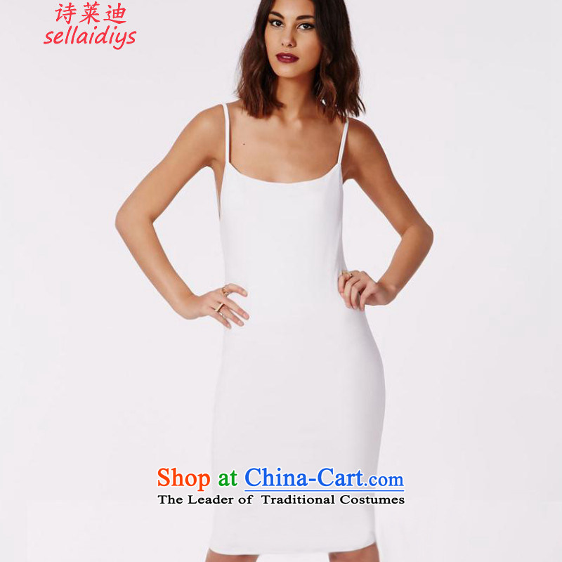 Ms Elsie Leung at the summer 2015 new sexy tight package and back slips in Europe and America, forming the basis of Sau San skirt dress dresses white聽S
