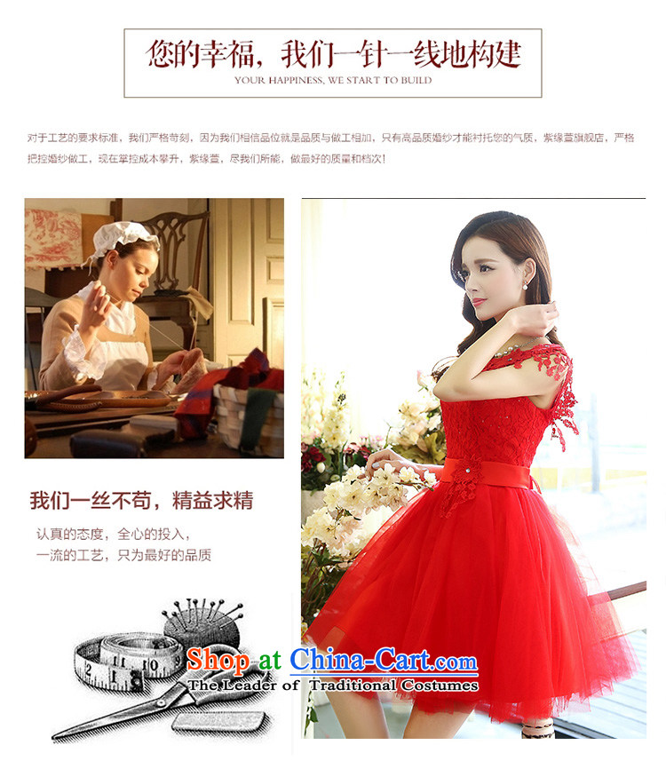 All New 2015 Ting bride bridesmaid dress straps, princess bon bon short skirts bridesmaid marriage solemnisation evening dresses lace the yarn stitching dress dresses female red L picture, prices, brand platters! The elections are supplied in the national character of distribution, so action, buy now enjoy more preferential! As soon as possible.