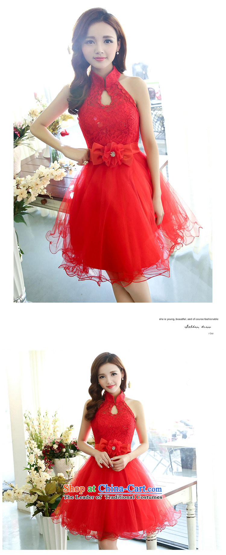 All New 2015 Autumn Ting mount must also shoulder straps, leakage princess bon bon short skirts bridesmaid marriage solemnisation evening dresses lace the yarn stitching dress dresses in red S pictures of the girl, prices, brand platters! The elections are supplied in the national character of distribution, so action, buy now enjoy more preferential! As soon as possible.