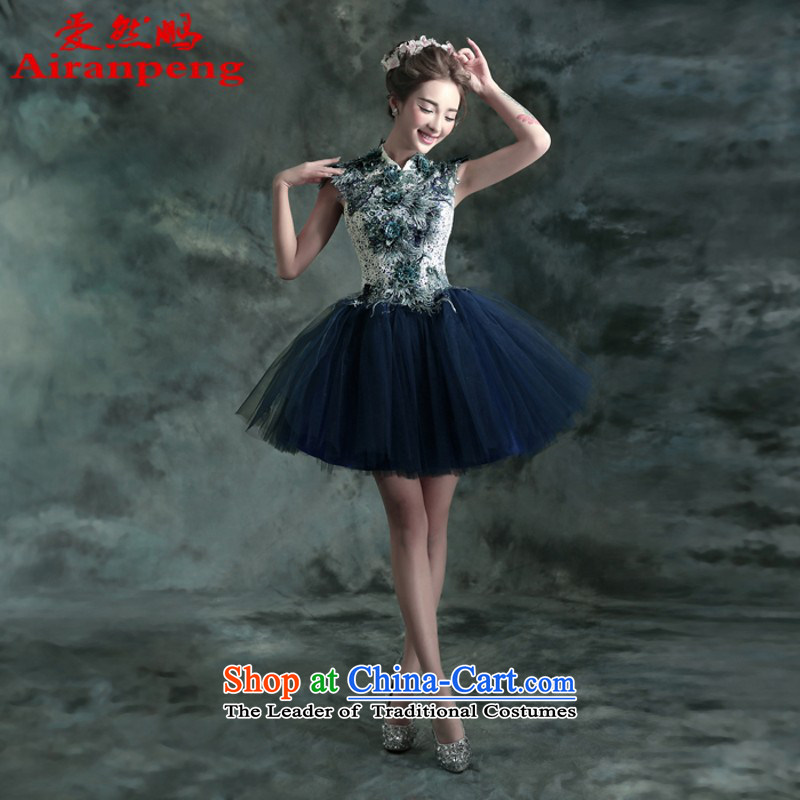 Blue Lace flowers bride bridesmaid dinner banquet annual concert, wedding small short cut to size up customer 025Q do not support returning