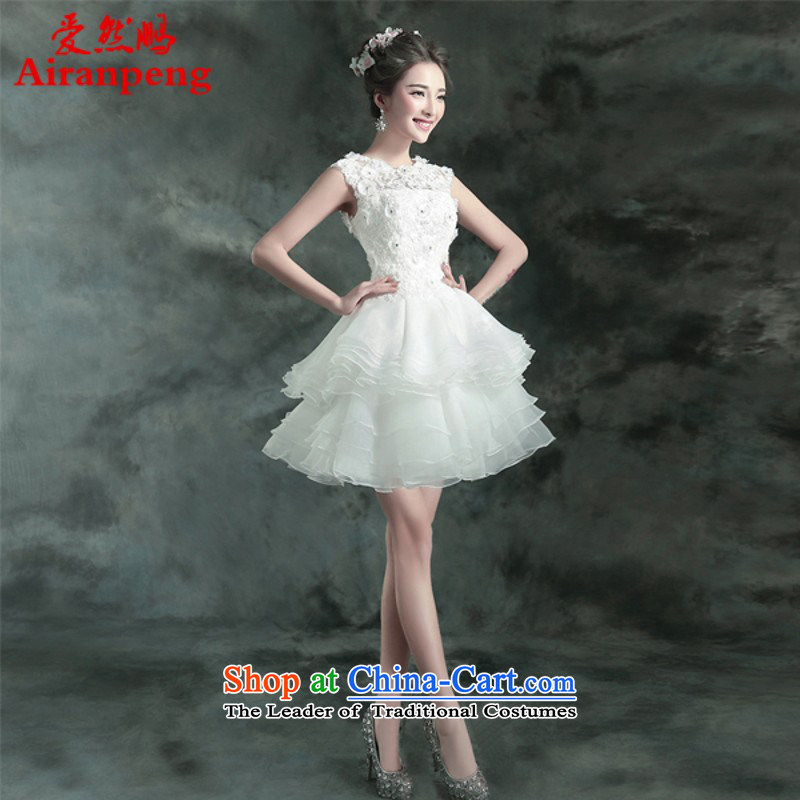 White fluoroscopy back The Princess Bride short, wedding dresses bridesmaid to serve small dinner banquet will 2364Q M