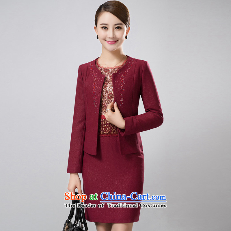 The Greek Wedding 2015 on Diana Kit installed MOM 2015 Autumn two kits with middle-aged jacket wedding dresses Women's Maroon�M
