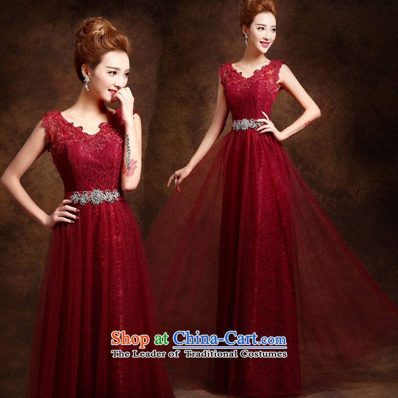 Evening dress new summer 2015 short, banquet dresses dress girl brides bows to marry a stylish field shoulder?M