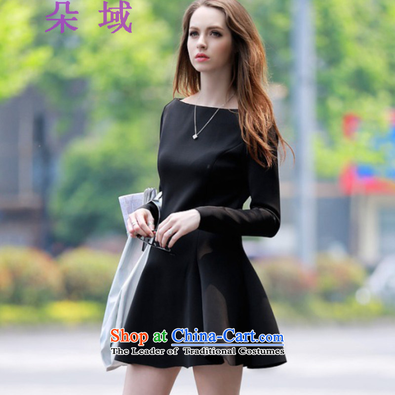 Load the autumn 2015 domain and the new one field for sleeve black skirt small black skirt dress C302A532 Black�XL