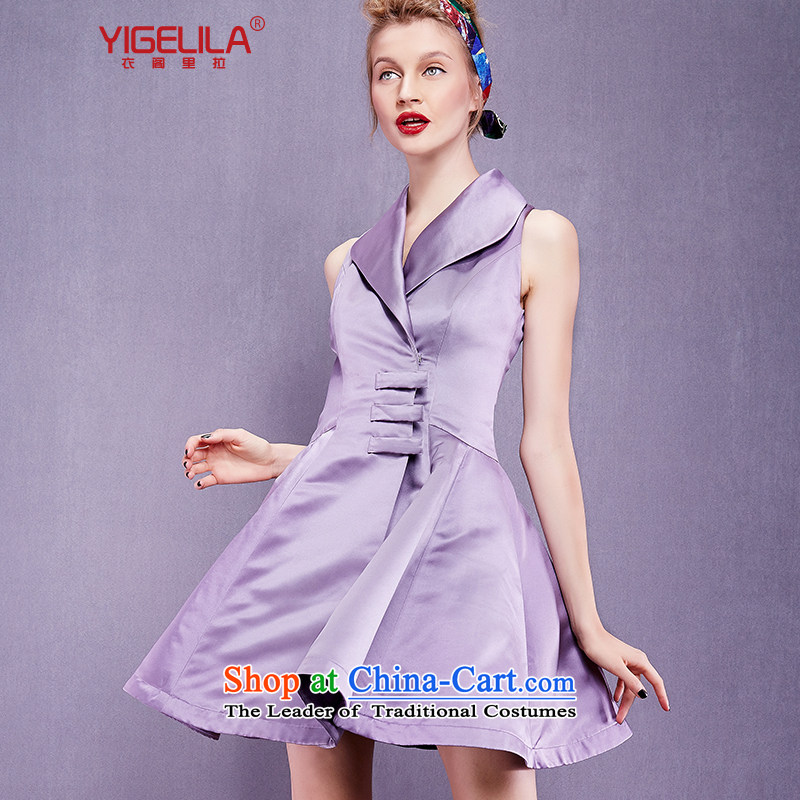 Yi Ge lire aristocratic ladies temperament fruit for elegant lines Purple light incense silk dresses wrought French dresses incense line聽61213 Zi M