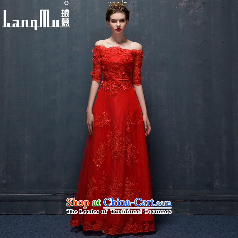The new 2015 Luang dress marriages anointed chest bows services red banquet evening dress long chinese red vest, plus advanced customization