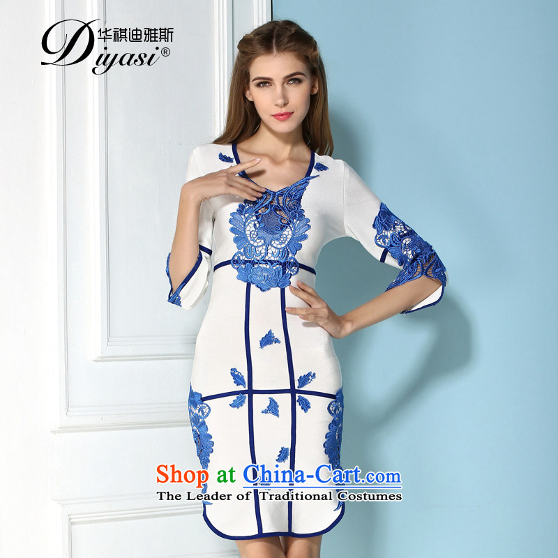 2015 Original innovation, ethnic dress in shape and sexy package and bandages dresses & Gatherings Show Appointment white�XS