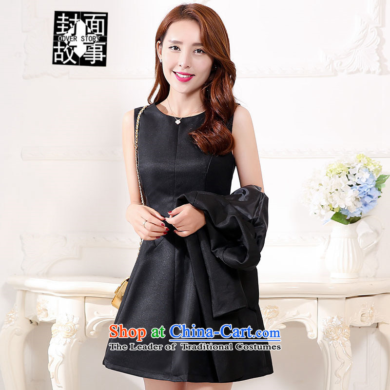 Cover Story 2015 Spring New anointed chest Sau San Foutune Bow Tie bon bon skirt bride replacing insurance stuffed bows dress bridesmaid dress dresses female Black XL