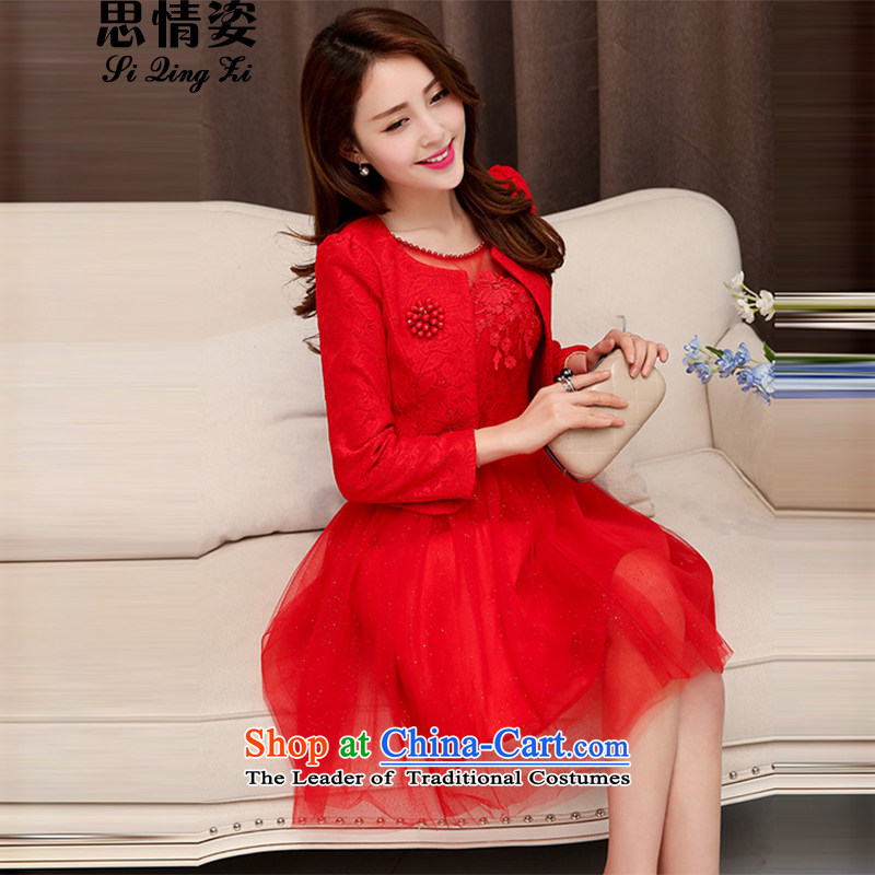 Calls upon the autumn 2015 new bride wedding dresses retro Chinese style wedding dress uniform bride red�XXL toasting champagne