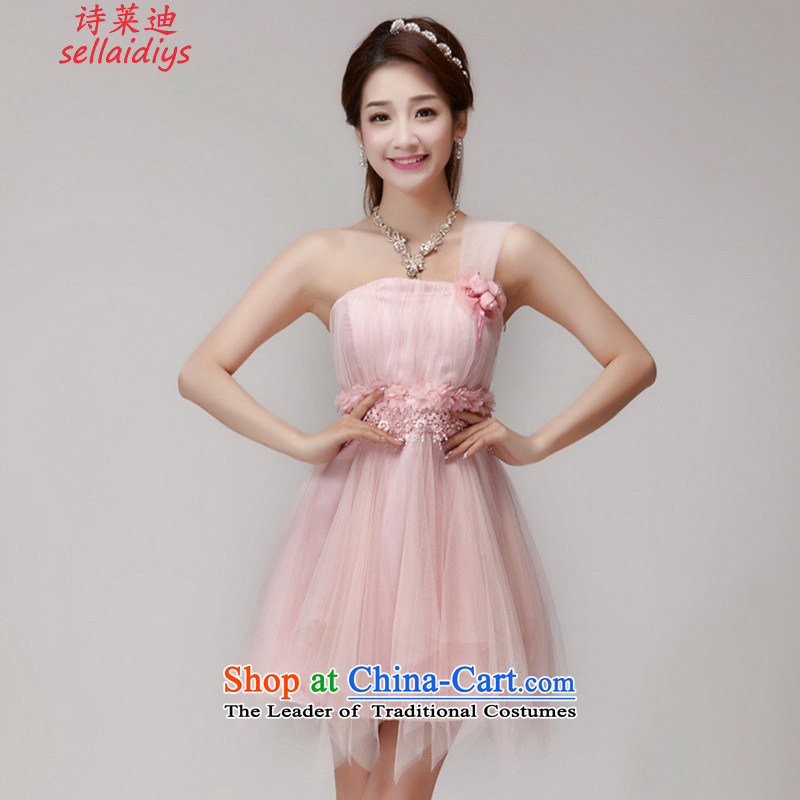Ms Elsie Leung at the summer 2015 new bridesmaid mission dress evening dresses and sisters skirts banquet short, small dress summer pink�M