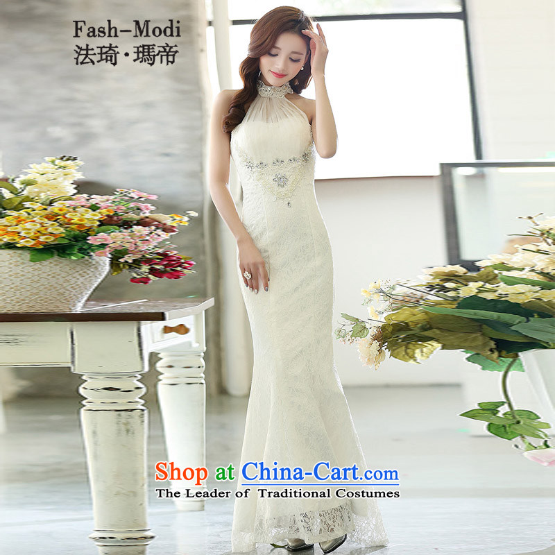 Law Chi Princess Royal new bride back door bows services betrothal lace back long) and sexy evening dresses Sau San dovetail bridesmaid services white S