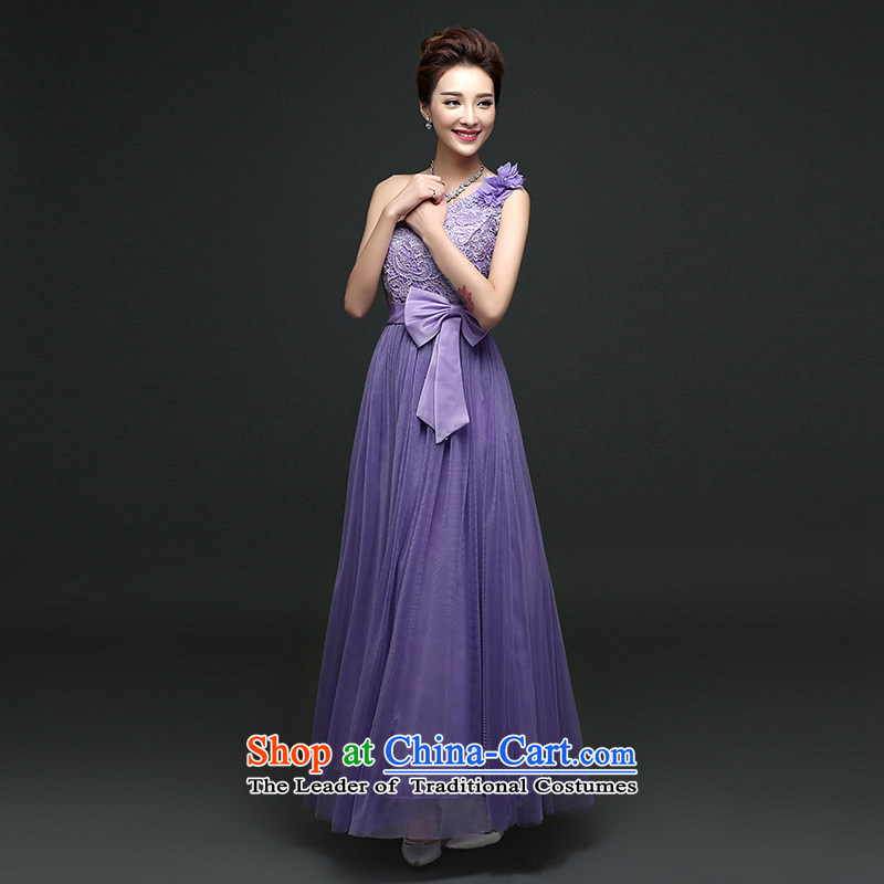 There is also optimized 8D long skirt fine nail pearl sister shoulders bridesmaid skirt sister services Korean bows services will dress mz5114 purple, Optimize Multimedia Friendship Shopping on the Internet has been pressed.