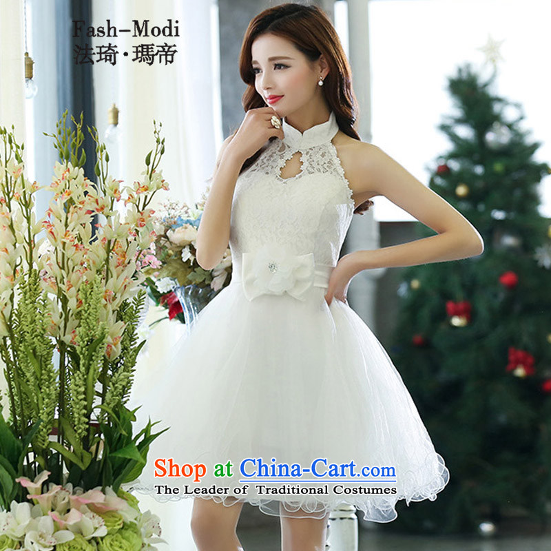 Law Chi Princess Royal 2015 Autumn The new bride back door services in long dresses bows of betrothal festival bridesmaid service performances lace dresses white�L