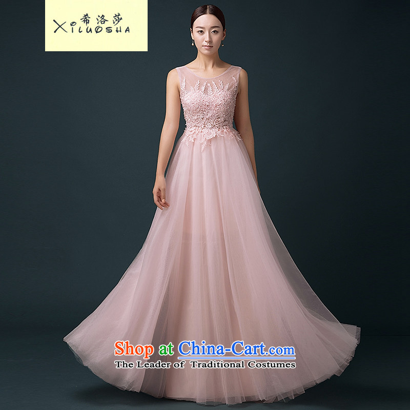 Hillo XILUOSHA Lisa _bride_ bows dress long marriage bows to the persons chairing the bride dresses and stylish girl evening dresses 2015 new pink聽XXL