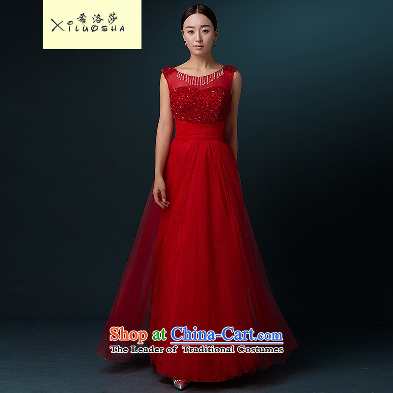 Hillo Lisa (XILUOSHA banquet evening dress) long bride bows dress wedding dress wedding dresses and stylish new annual meeting of persons chairing the autumn RED?M
