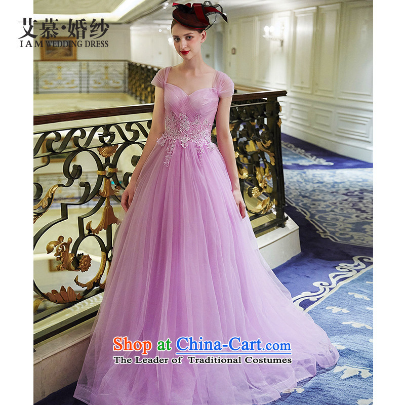 The wedding dresses HIV NEW 2015 are included lace long drink service evening dress light pink?M