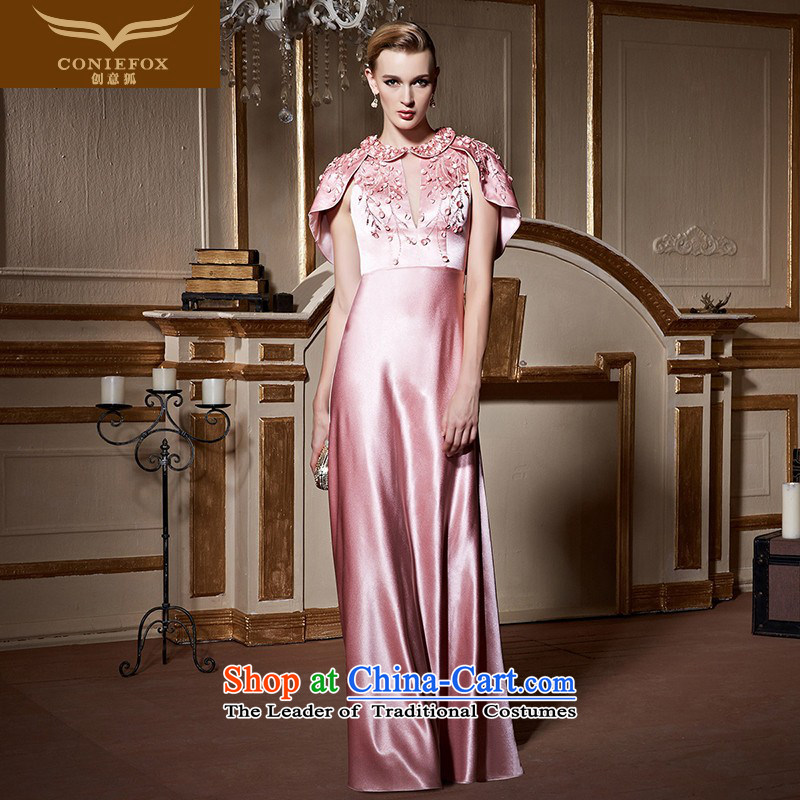 Creative Fox continental banquet evening dresses and stylish leave two shawls dress pink drink services under the auspices of marriages dress female 82231 will pink�M
