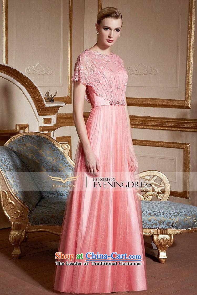 Creative Fox pink lace nets dress bride wedding dress evening drink ...
