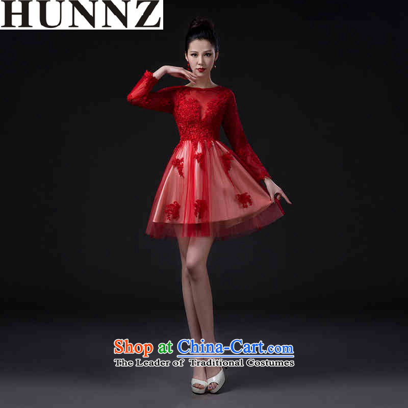 ?   ?Stylish classic 2015 new HUNNZ) spring and summer bride wedding dress bridesmaid services serving the red red?S bows