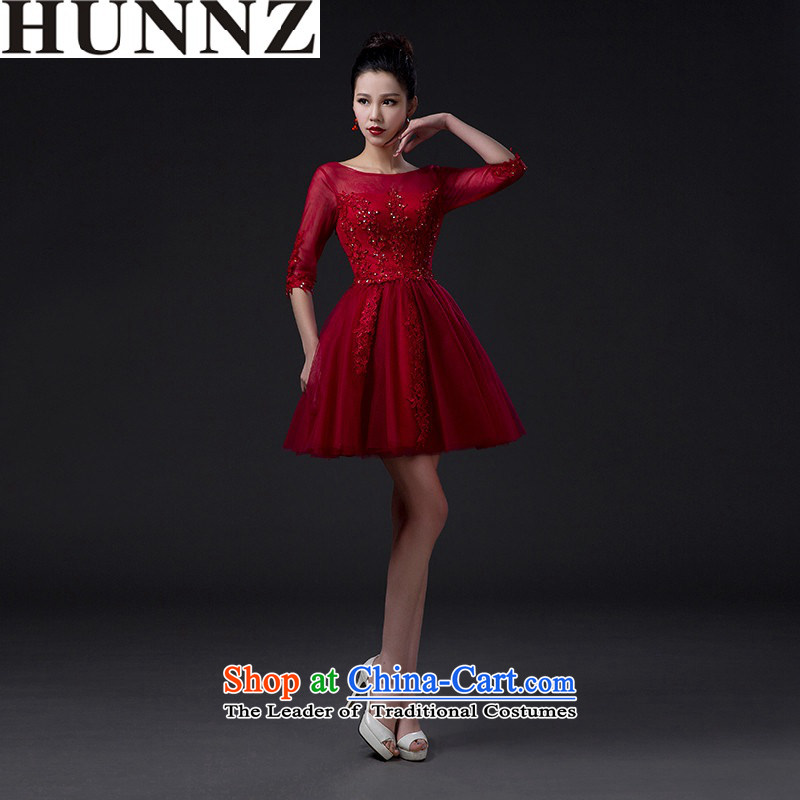 Minimalist 2015 Sau San HUNNZ spring and summer bridal dresses evening dresses bows services sister skirt wine red wine red�L