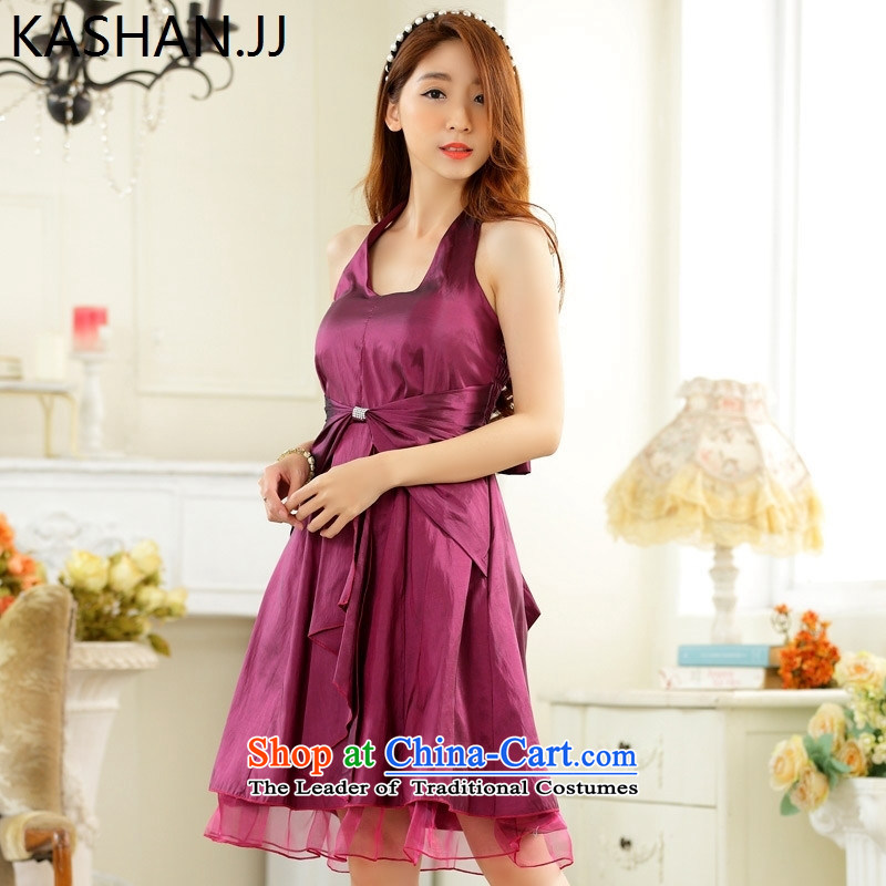Susan Sarandon Zaoyuan card thick mm to increase women's code Korean minimalist thin waist straps in history skirt dinner small dress dresses Magenta?XL