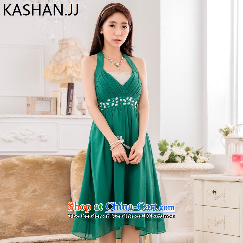 Susan Sarandon Zaoyuan card thick mm to intensify the thick sister sexy V-neck a bright pearl of staple manually drill chiffon dress dresses聽XXXL red