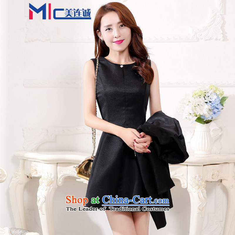 Mei Lin Shing spring and autumn 2015 new bride wedding dress bows services back to door Red Dress Short of Sau San evening dresses female black?XXL