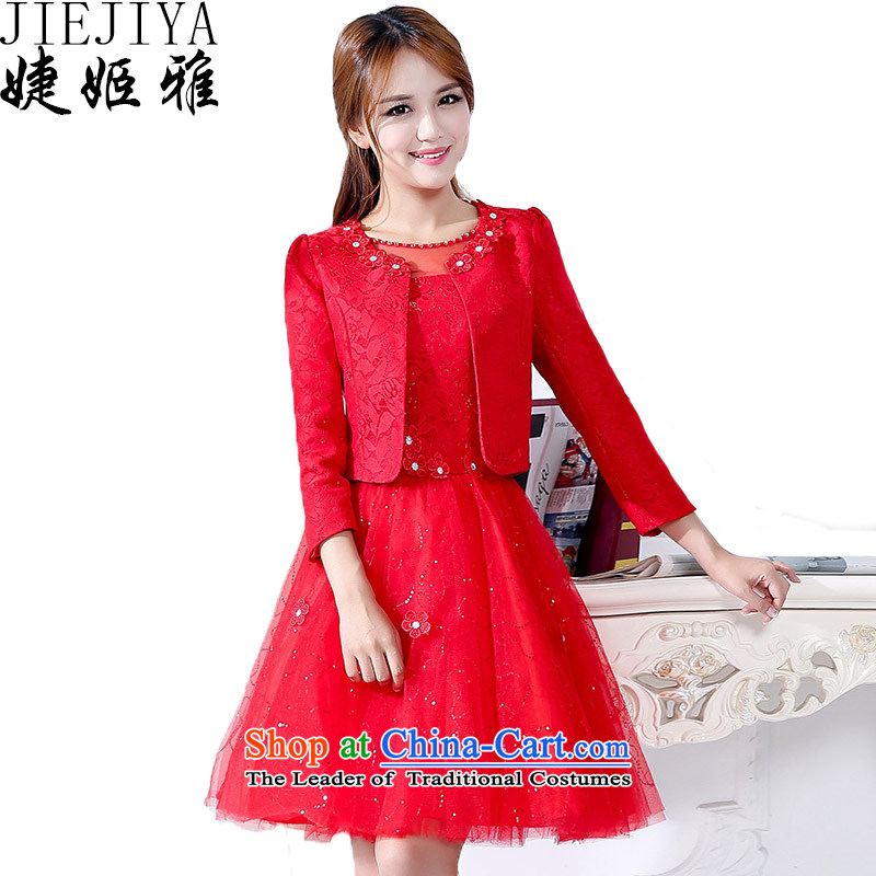 Involving women and Suu Kyi bridesmaid marriages bows evening dresses female red?XL