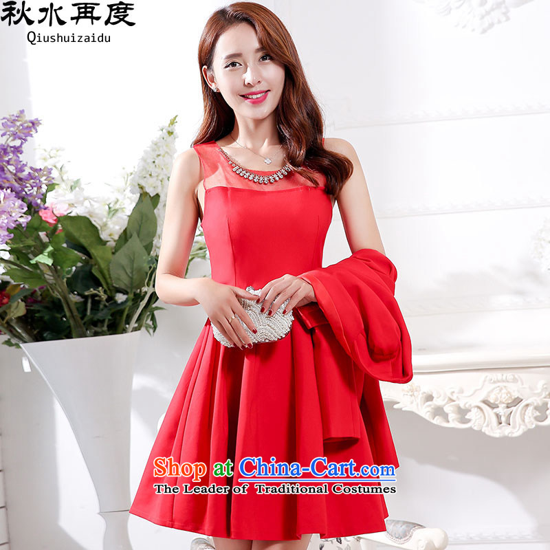 The new 2015 once again the chaplain married women serving 2 piece set bows HSZM1595 RED?XL