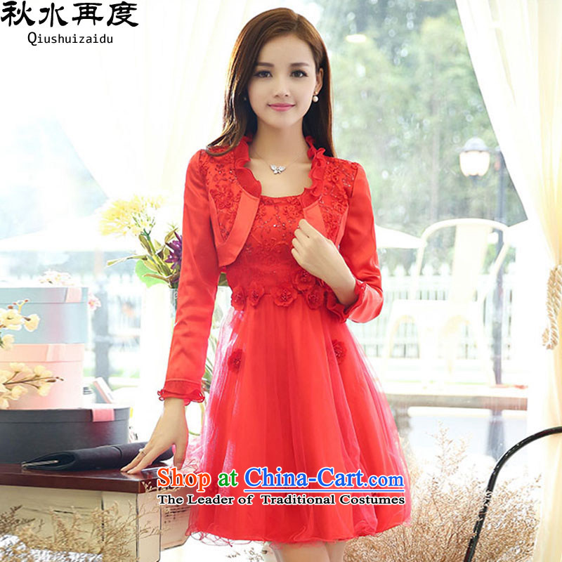 The new 2015 once again the chaplain stereo flowers Sau San video thin two kits bridal dresses HSZM1572C?XXXL color picture