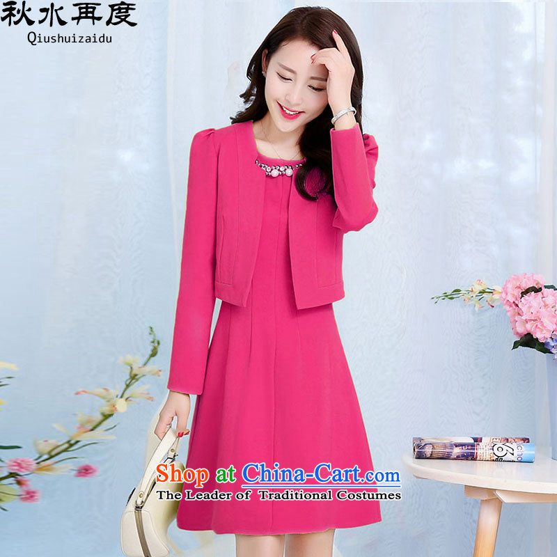 The Korean version of the chaplain again 2015 nails 2 piece dresses�HSZM1528�deep in the Red�M