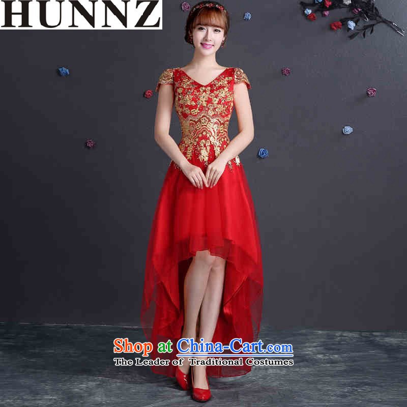 ?   ?Toasting Champagne Services 2015 new HUNNZ stylish in the long strap lace bridal wedding dress evening dresses red?XL