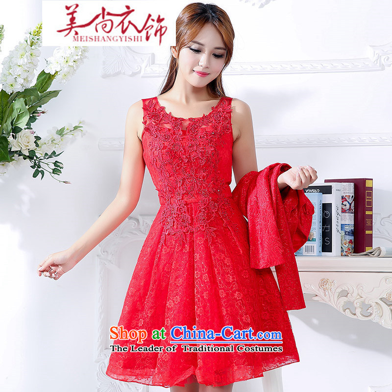 The United States is still clothing spring and autumn 2015 replacing the new bride wedding dress bows to lace skirt fashion clothing sweet bon bon skirt?XXXL red