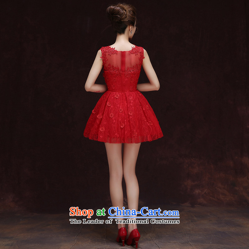 Rain-sang Yi marriages 2015 new short, Wedding Dress Circle sleeveless sexy and meat dresses bridesmaid small dress LF196 RED XL, rain is yi , , , shopping on the Internet