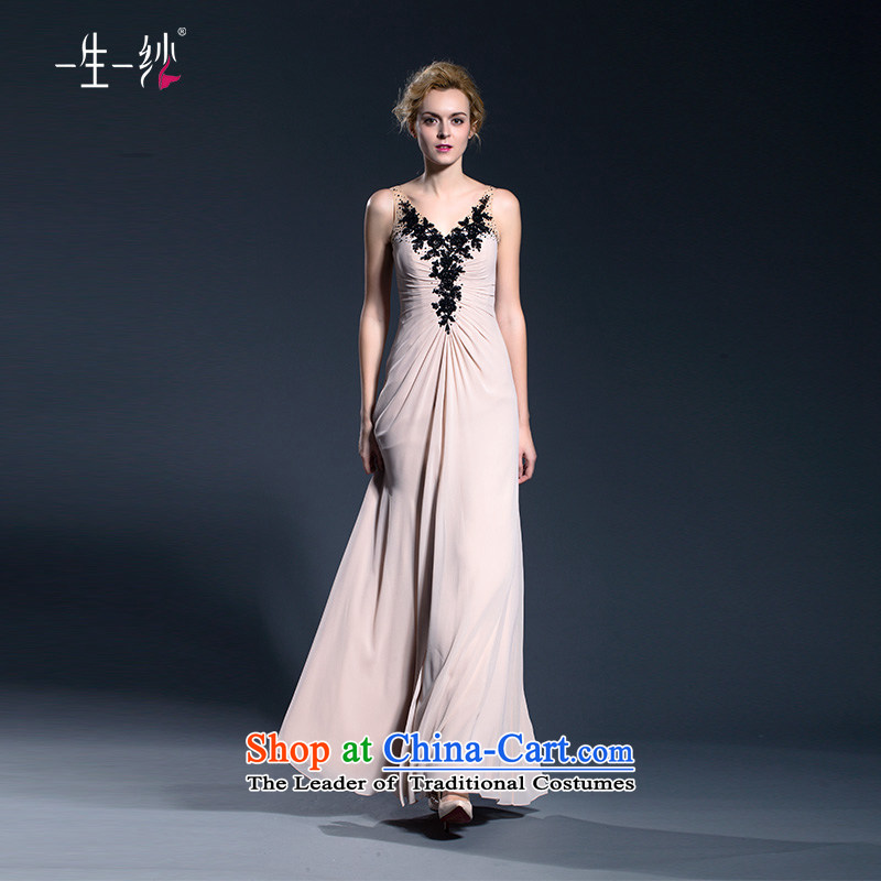 Shoulder evening dresses long betrothal moderator dress female will fall and stylish girl bows to 402401384 Sau San pink?155/80A 30 days pre-sale